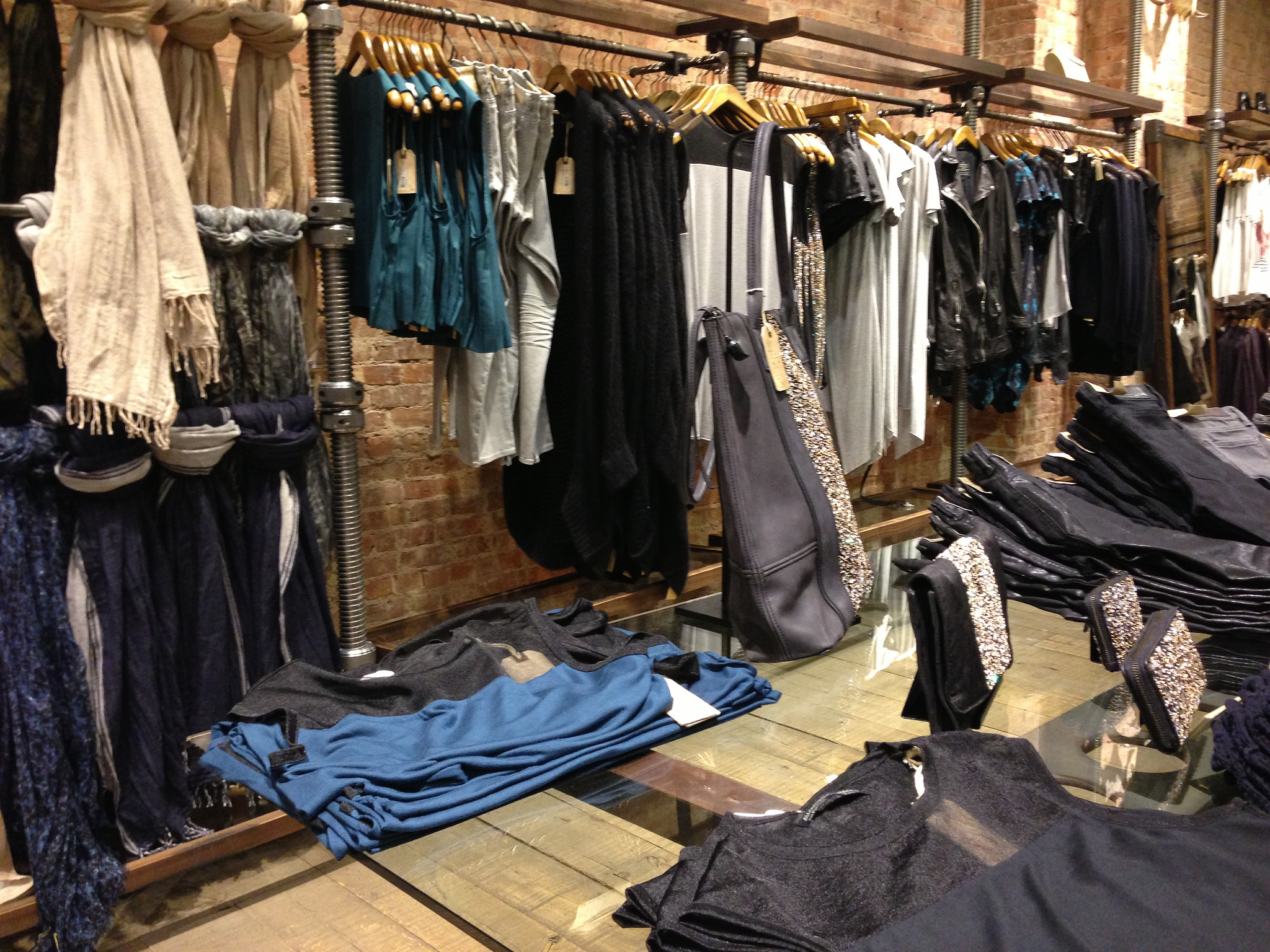 Women's fashion at AllSaints in New York. Photo by alphacityguides.