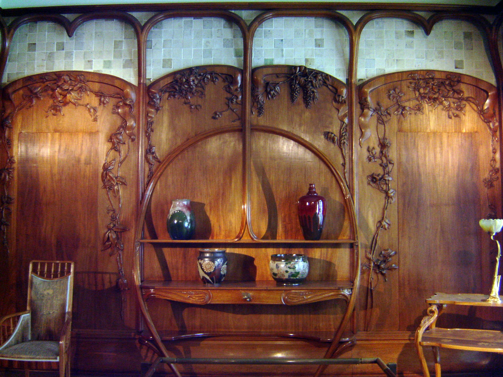Art Nouveau furniture display.