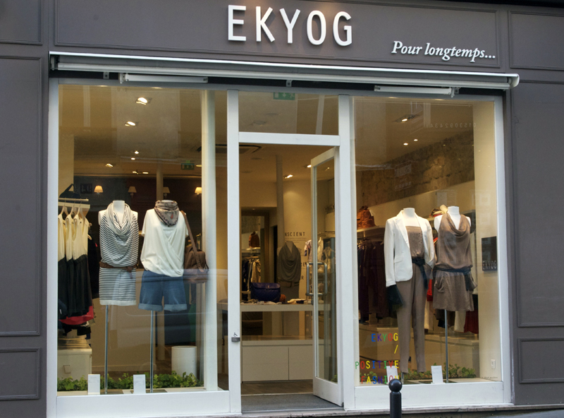 Store front at Ekyog in Paris. Photo by alphacityguides.