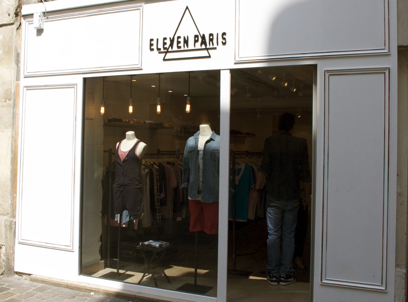 Store front at Eleven in Paris. Photo by alphacityguides.