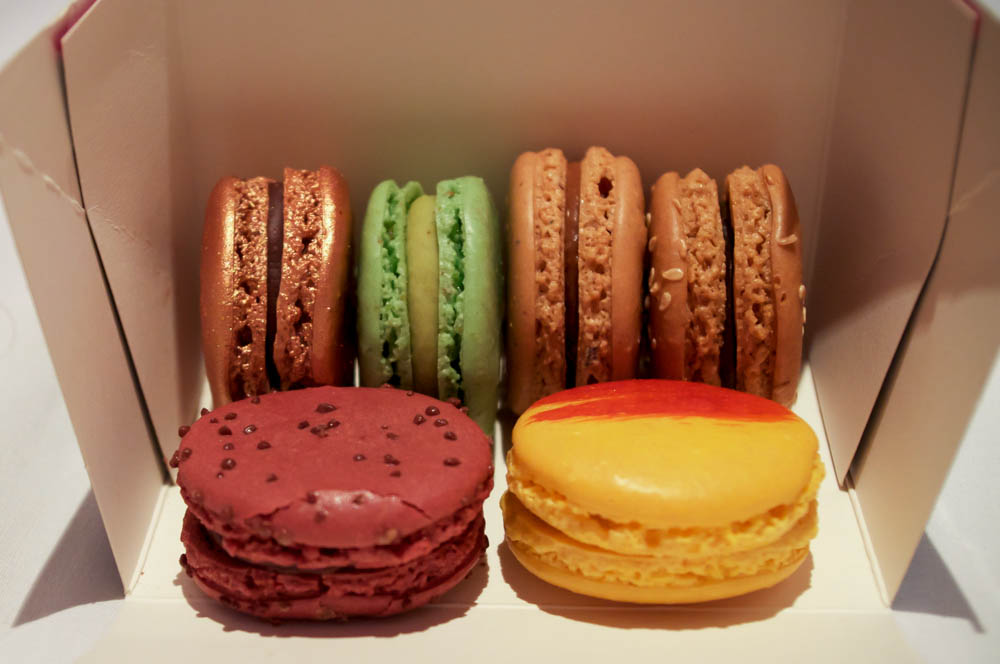 Fauchon macarons in Paris. Photo by alphacityguides.