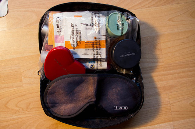 Essentials for your carry-on cosmetic case.
