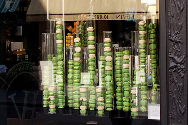 Pastry window at Hugo & Victor in Paris. Photo by alphacityguides