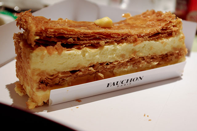Mille Feuille at Fauchon in Paris. Photo by alphacityguides.