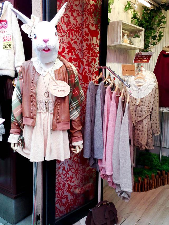 WonderRocket a popular Mori girl shop in Tokyo. Photo by alphacityguides.