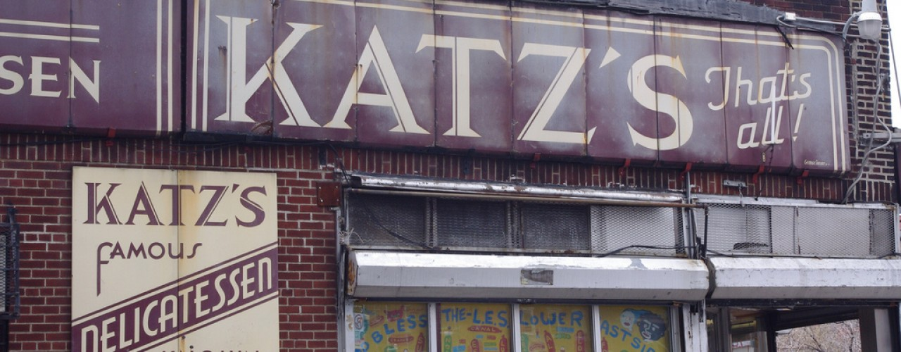 Katz's exterior. Photo by alphacityguides.