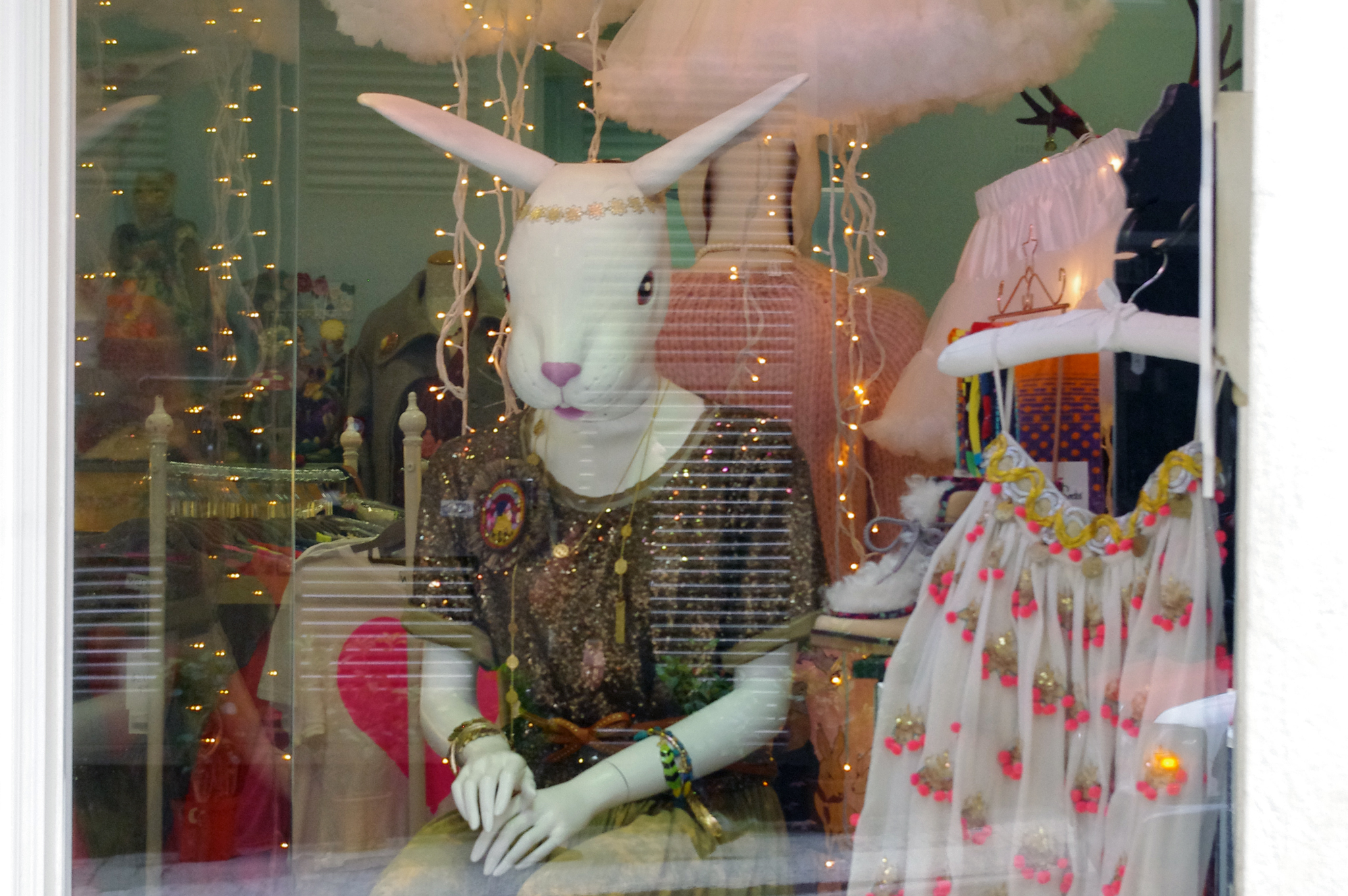 Window display at Little Black Dress in Hong Kong. Photo by alphacityguides.