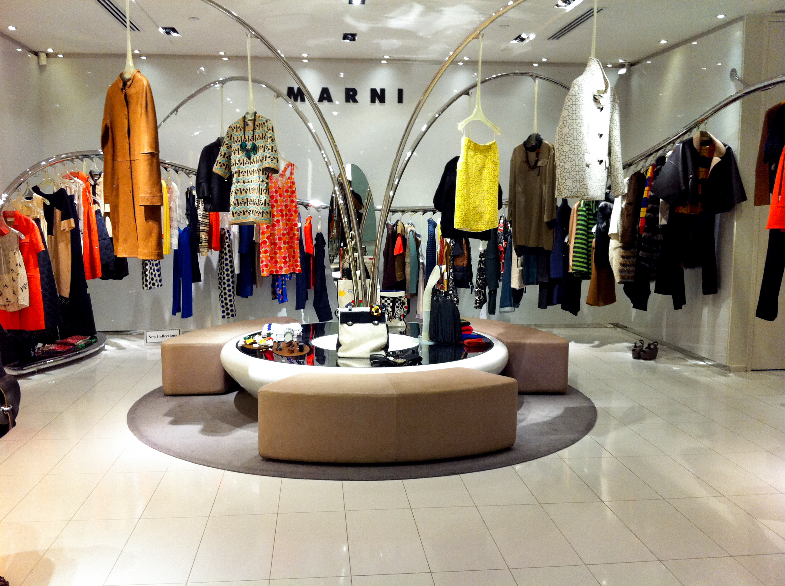 Marni fashion display in Pacific Place Hong Kong. Photo by alphacityguides.