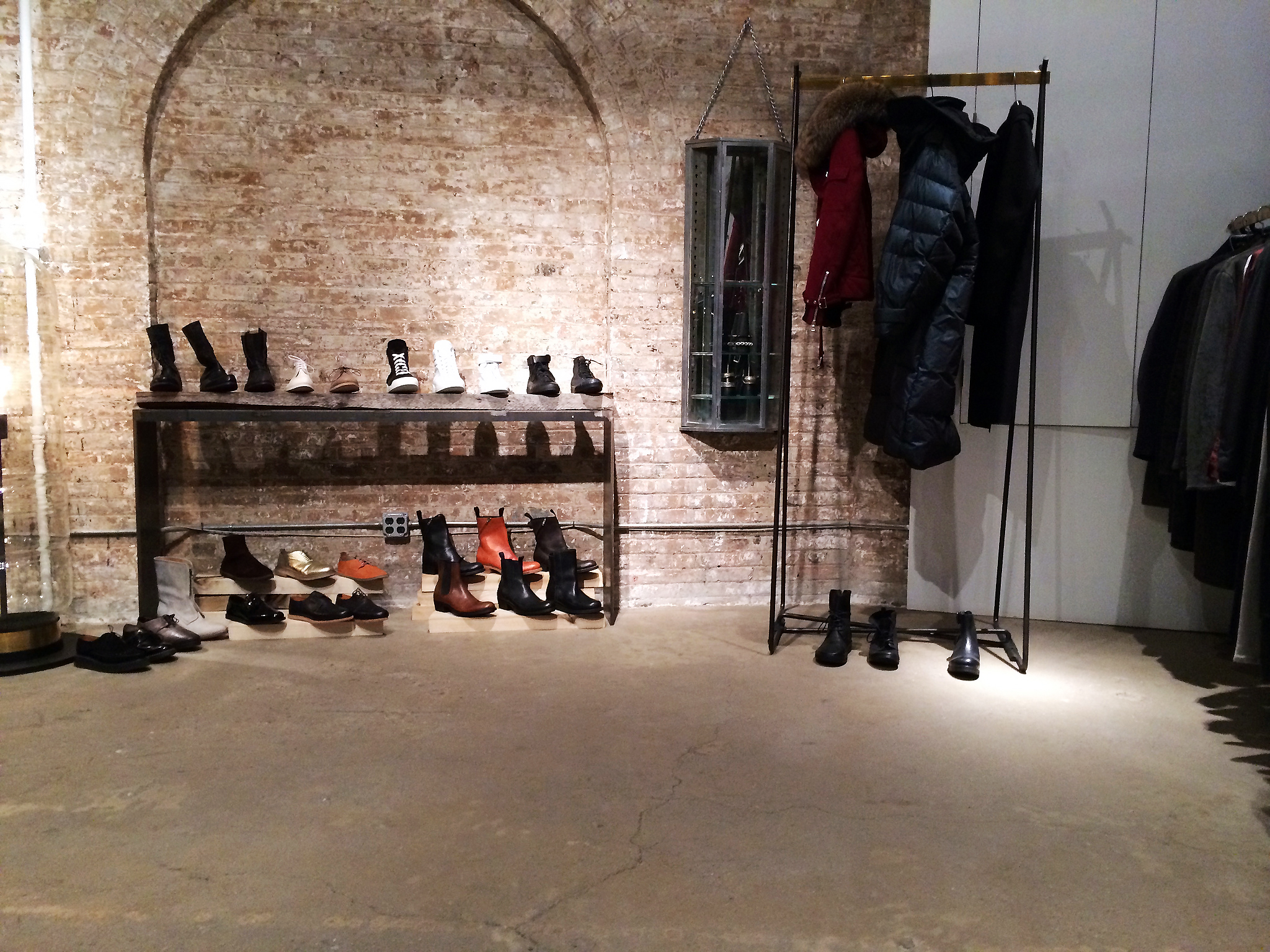 Menswear and shoes at Patrons of the New. in New York. Photo by alphacityguides.