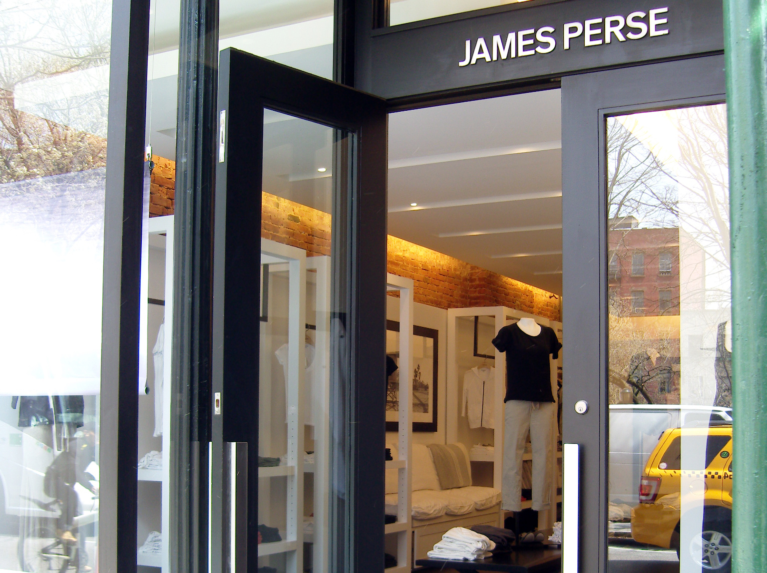 Store front at James Perse in New York. Photo by alphacityguides.