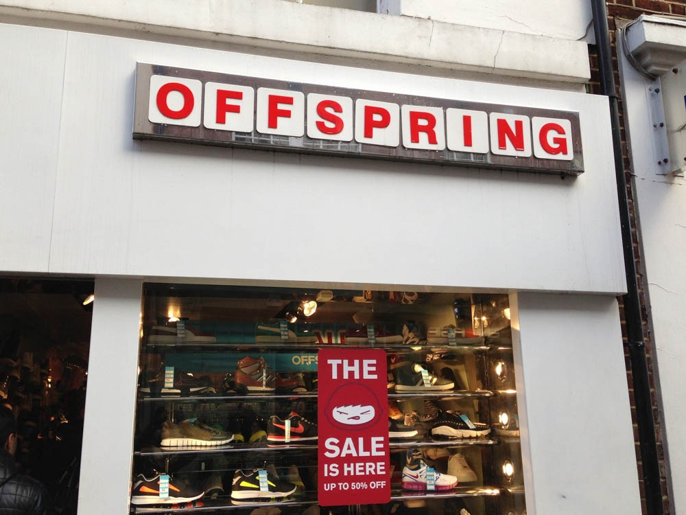 971954964a46 Store front at Offspring in London. Photo by alphacityguides.