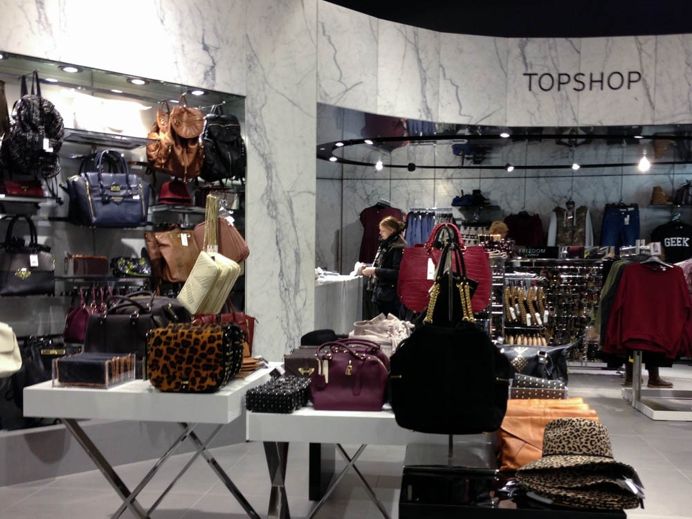 3a0560acbfcf2 Topshop accessories department at Selfridges   Co. in London. Photo by  alphacityguides. Lingerie fashion display ...