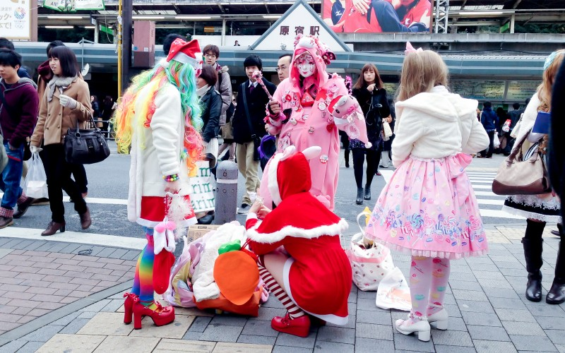 Tokyo fashion outside Harajuku in Tokyo. Photo by alphacityguides.