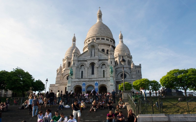 Basilica of the Sacré Coeur in Paris. Photo by alphacityguides.