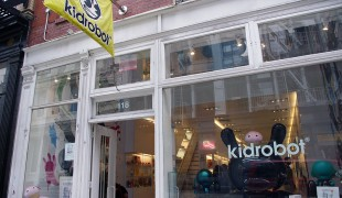 Store front at KidRobot in New York. Photo by alphacityguides.