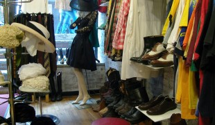 Fashion inside David Owens Vintage Clothing in New York. Photo by alphacityguides.