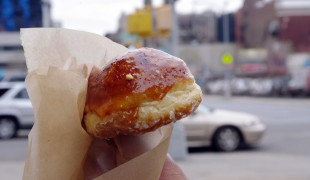 Creme brulee doughnut from Doughnut Plant in New York. Photo by alphacityguides.