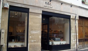 Store front at n.d.c. made by hand in Paris. Photo by alphacityguides.