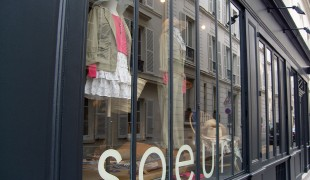 Store front at Soeur in Paris. Photo by alphacityguides.