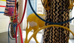 Fashion display inside Tsumori Chisato in Paris. Photo by alphacityguides.