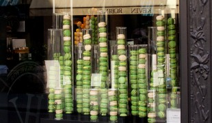 Macarons at Hugo & Victor in Paris. Photo by alphacityguides.