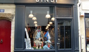 Store front at Jinj in Parisi. Photo by alphacityguides.