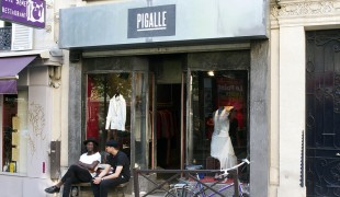 Store front at Pigalle in Paris. Photo by alphacityguides.