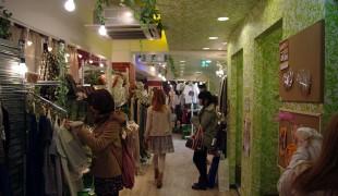Inside Wonder Rocket Harajuku in Tokyo.