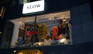 Store front at Slow in Tokyo. Photo by alphacityguides.