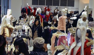 Fashion inside Momo in Tokyo. Photo by alphacityguides.