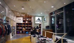 Fashion inside X-Large in Tokyo. Photo by alphacityguides.