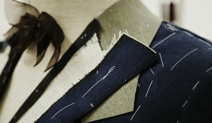 Gieves & Hawkes bespoke suit under construction. Photo supplied by Gieves & Hawkes.