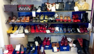 Shoes at Vivienne Westwood Closet Child in Tokyo. Photo by alphacityguides.