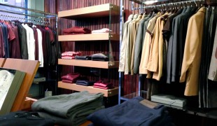 Men's fashion inside Peter Werth in London. Photo by alphacityguides.