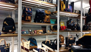 Bags and backpacks at Master-piece in Tokyo. Photo by alphacityguides.