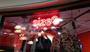 Window display at Size? in London. Photo by alphacityguides.