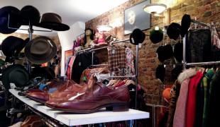 Men's vintage inside Hunky Dory Vintage in London. Photo by alphacityguides.