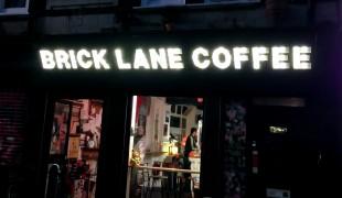 Brick Lane Coffee in London. Photo by alphacityguides.