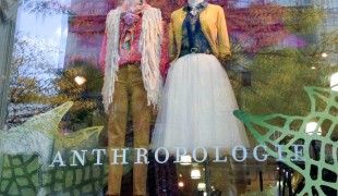 Window display at Anthropologie in New York. Photo by alphacityguides.