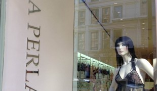Store front at La Perla in New York. Photo by alphacityguides.