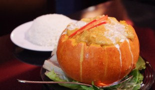 Pumpkin Curry at Tuk Tuk Thai in Hong Kong. Photo by alphacityguides.