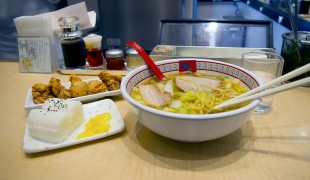 Ramen and fried chicken at Kamakura in Tokyo. Photo by alphacityguides.
