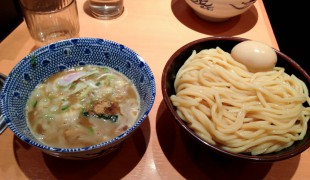 Broth and noodles at Rokurinsha in Tokyo. Photo by alphacityguides.