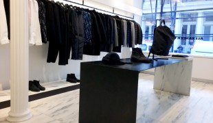 Modern fashion display at Alexander Wang in New York. Photo by alphacityguides.