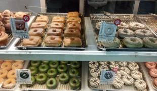 Doughnut display case at Doughnut Plant in Tokyo. Photo by alphacityguides.