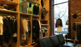 Fashion display at Creatures of Comfort in New York. Photo by alphacityguides.