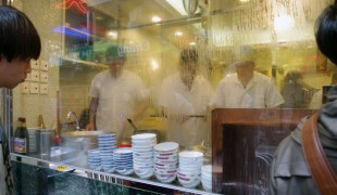 Chefs at Mak's Noodles in Hong Kong. Photo by alphacityguides.