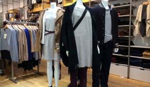 Womenswear fashion at Muji in New York. Photo by alphacityguides.