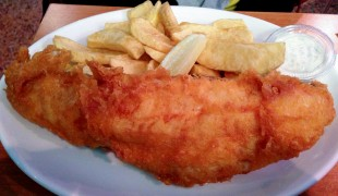 Fish & Chips at Rock and Sole Plaice in London. Photo by alphacityguides.