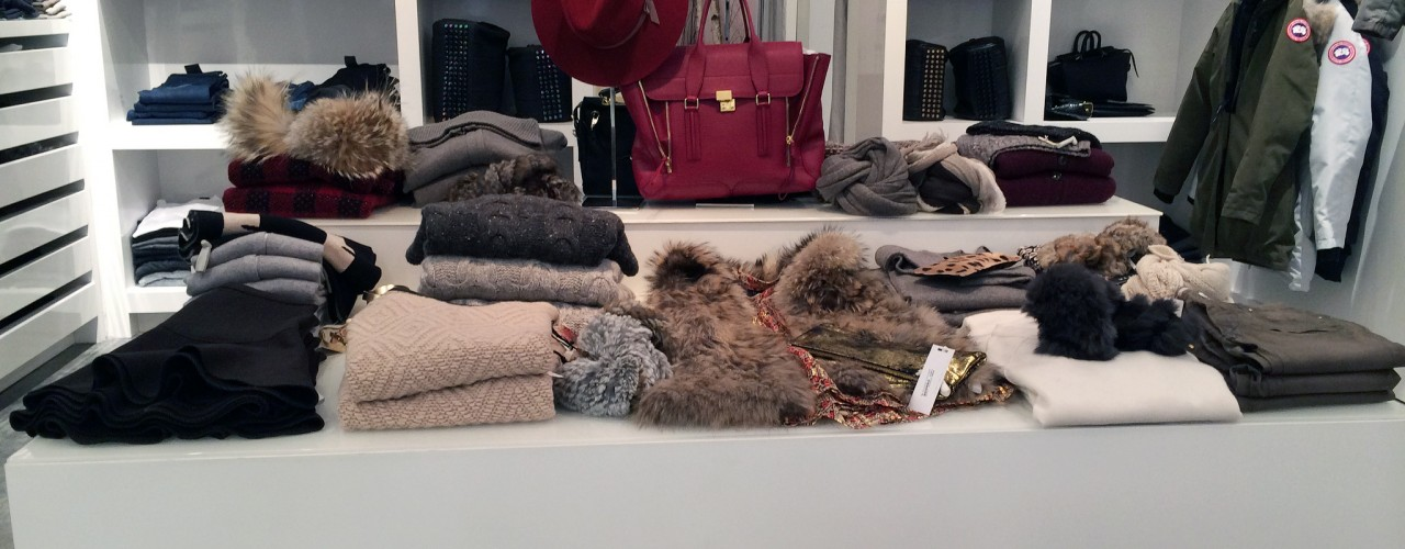 Womenswear display at Otte in New York. Photo by alphacityguides.